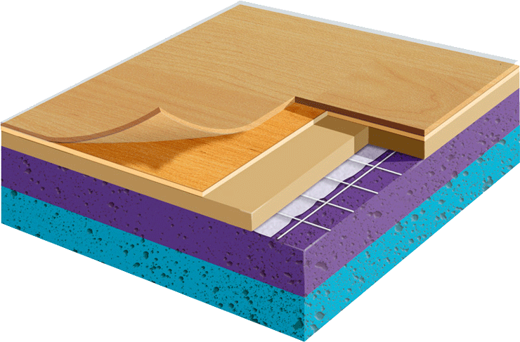 Sports Flooring | Sports Flooring Cross Section Image